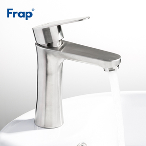 Image 4 - Frap Basin Faucets Chrome Stainless Steel Bathroom Basin Faucet Tap Sink Mixer Faucet Vanity Hot and Cold Water Brass Tapware
