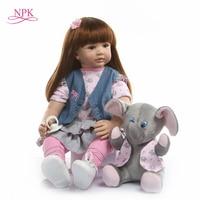 real baby size 60CM reborn toddler girl princess Handmade doll surprice Silicone vinyl adora Bonecas girl kid bebes reborn lol