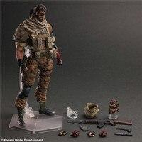 Jogue Arts Kai Elsadou Metal Gear Solid PVC Figuras de Ação Colecionáveis Brinquedos Modelo 33 cm