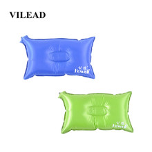 Vilead Portabel Inflatable Camping Bantal 42*24 Cm Outdoor Hiking Perjalanan Bantal Pesawat Pantai Tidur Ultralight Lembut Camping Mat(China)