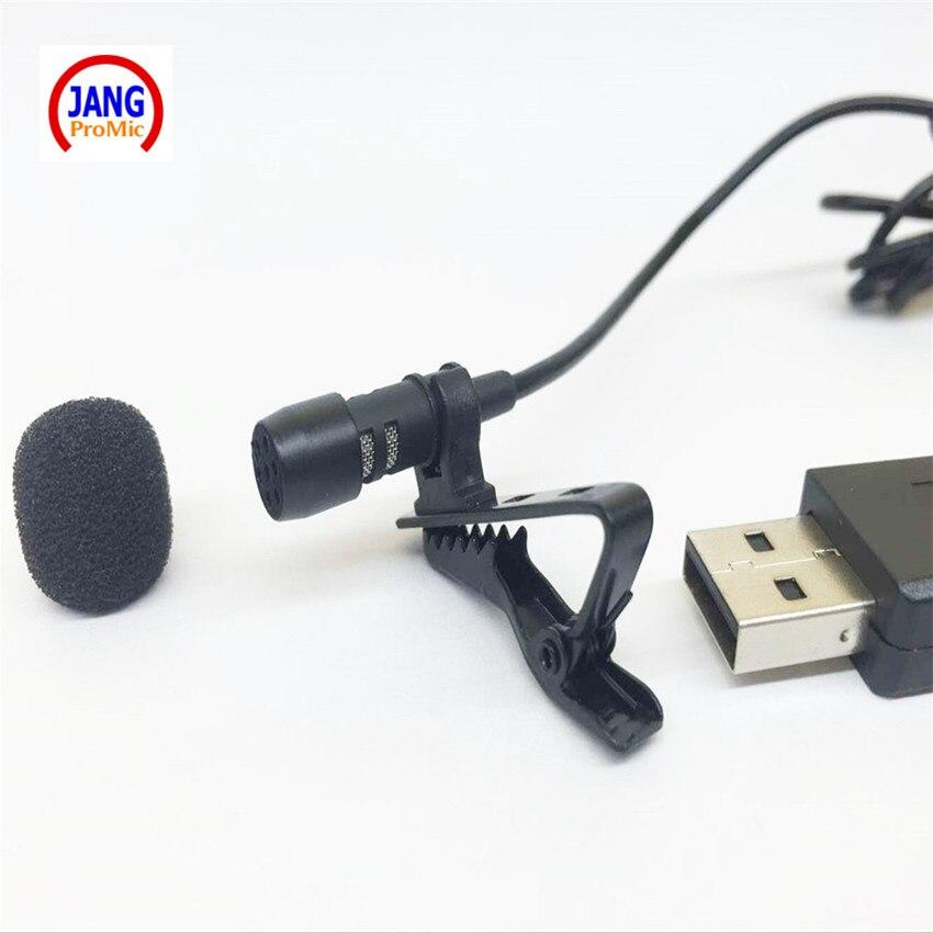 Kompüter Laptop Strand USB qeyd üçün Professional Lapel Mini Mikrofon Kondisioner USB Mikrofon Kondensator
