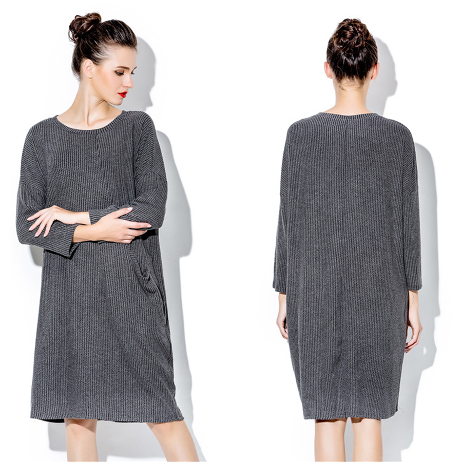 Women dresses autumn winter elegant maternity dresses casual women dresses autumn winter elegant maternity dresses casual elbise warm cotton fashion pregnant woman sweater dress gray 70r079 in dresses from mother ombrellifo Images