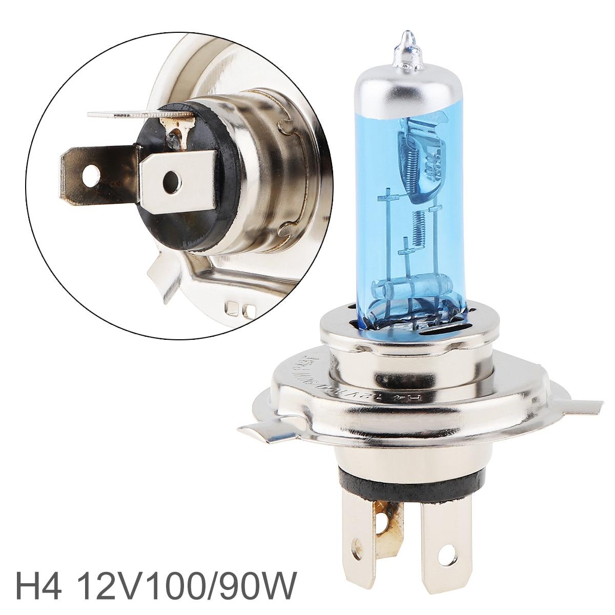 Универсальный 12 В H4 5000K белый свет Автомобильная галогенная лампа 90/100 Вт Супер яркая Автомобильная передняя фара противотуманная фара подх...