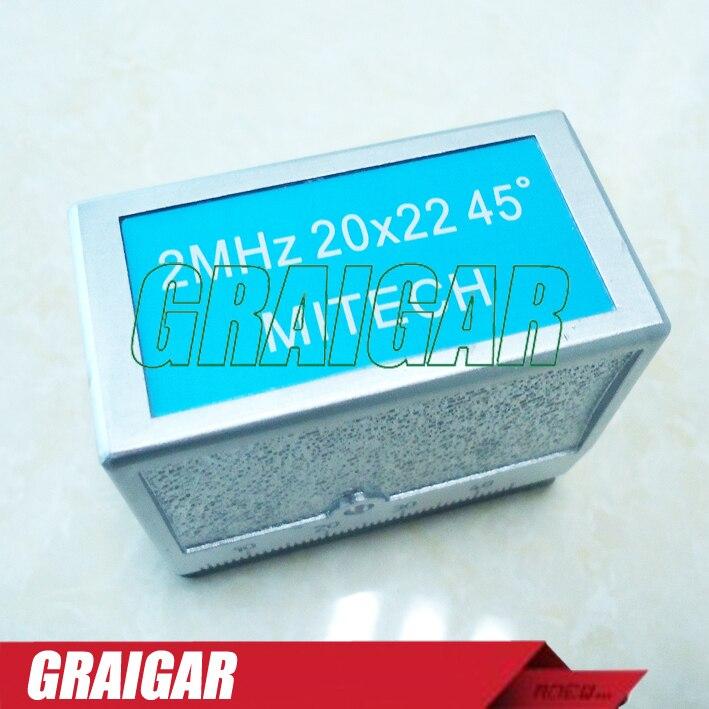 MITECH 45 Degree Angle Beam Probe Transducer 2MHz 20x22MM for MFD350B,MFD500B,MFD620C,MFD650C,MFD800C Ultrasonic Flaw Detector  цены
