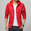 New 2016 Arrival Men's Hoodies Sweatshirts Printed Red Mens Active Sweatshirt Coat Brand Clothing Trend Slim Fit Hoodie For Men