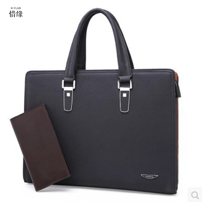 XIYUAN Genuine Leather Man Fashion Briefcase High Quality Business Shoulder Bags Casual Tr