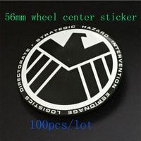 Hot sale Car Wheel Hub caps sticker 100pcs/set 56mm 2.20inch car wheel cap sticker for eagle logo