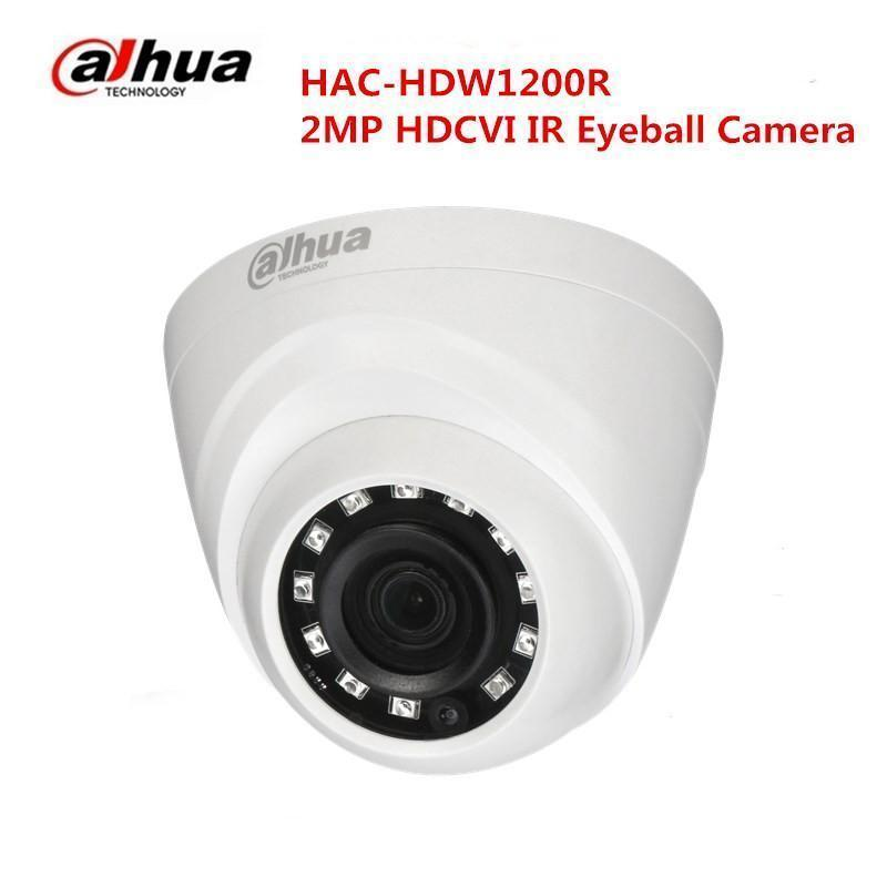 Free Shipping DAHUA CCTV Security Camera 2MP HDCVI IR Eyeball Camera without Logo HAC-HDW1200R free shipping dahua cctv security camera 2mp hdcvi ir eyeball camera ip67 without logo hac hdw1220r vf