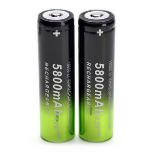 Image 5 - 2 pcs 18650 battery 3.7V 5800mAh rechargeable li ion battery + one charger for Led flashlight  headlamp