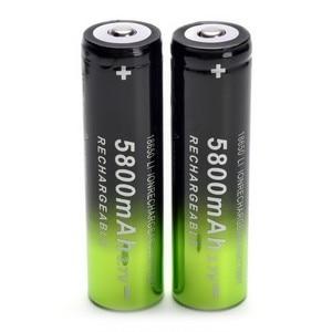 Image 5 - Bateria 18650 v 3.7 mah recarregável, 2 peças, bateria de íon de lítio + um carregador para lanterna led