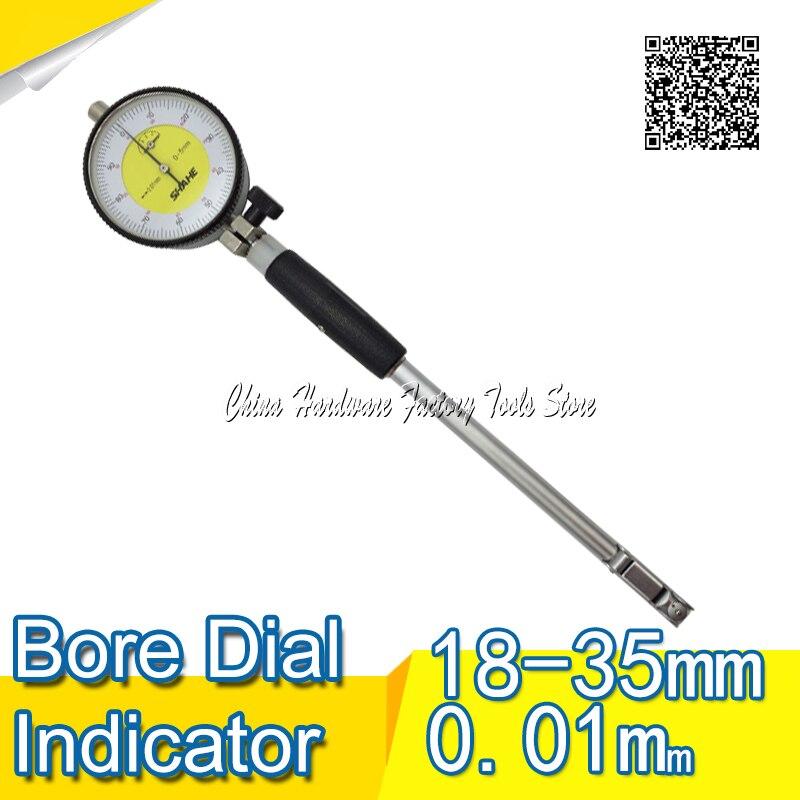 Faixa de Medição Display de Alta Diâmetro do Calibre do Diâmetro do Furo Calibre de Medição Shahe Dial Bore Precisão 0.01mm 18-35mm