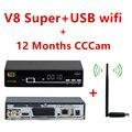 V8 Super internet via satélite Freesat TV receiver + USB wifi + 1 Ano Europa Decodificador dvb-s2 Newcam CCcam Cline melhor do que V7