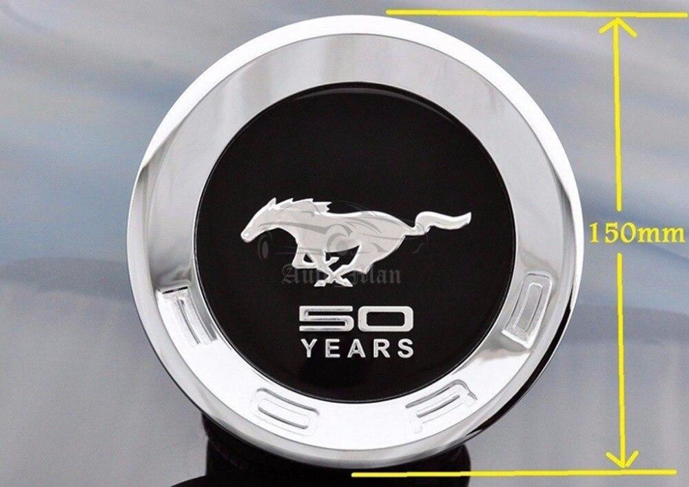 "5.9/"" Rear Trunk Lid Emblem Badge Cap Tailgate Logo Chrome for Ford Mustang"