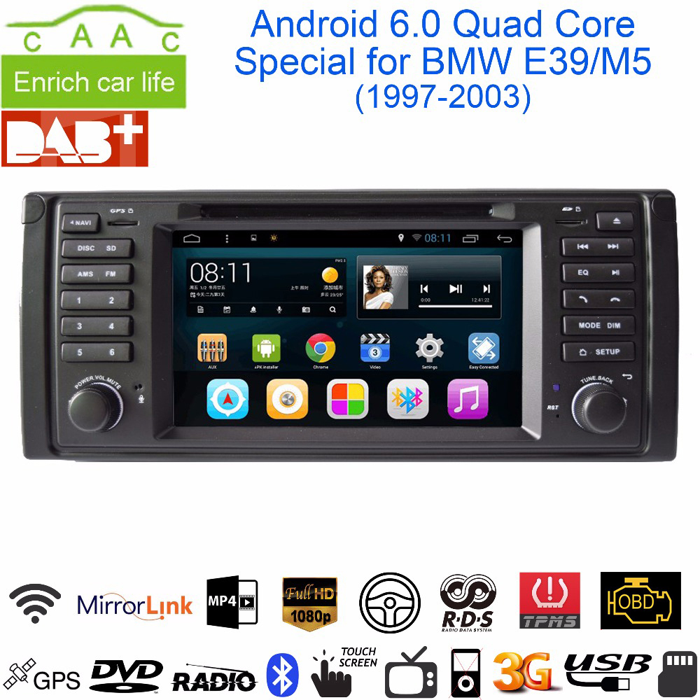 Aliexpress com buy dycaion android 6 0 1g 2g ram 16g 32g rom gps navi 7 car dvd player for bmw e39 5 series m5 1997 2003 with bt rds radio 3g wifi from