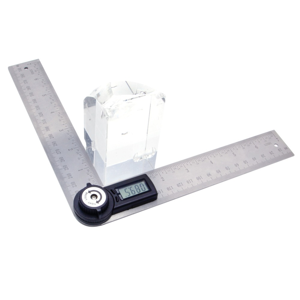 2 In 1 Digital Angle Ruler Protractor 360 Degree 200mm Electronic Meter Finder Gauge Measuring Tool in Protractors from Tools