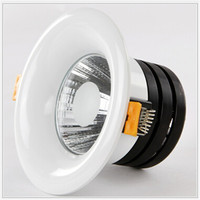 Free Shipping Retail Dimmable 10W 15W LED COB Ceiling Down Light Dowlight Warm Cool White Recessed