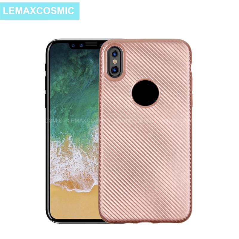 Ultra Thin Light Carbon Fiber Texture Case Soft Silicone TPU Fashion Deluxe Back Cover For iPhone X Ten 10 8 7 6S 6 Plus 5S SE 5