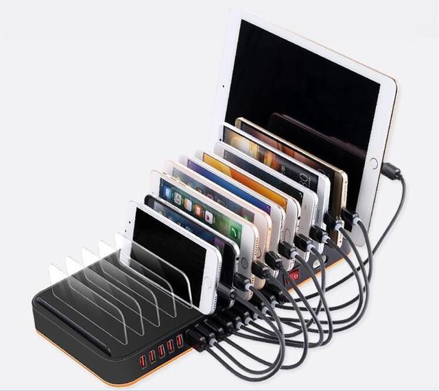 super ladeger t handys zubeh r 15 usb ladestation dock multi ports tablet smartphones 5 v 20a. Black Bedroom Furniture Sets. Home Design Ideas