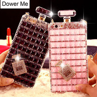Bling Perfume Bottle Lanyard Chain Diamond Handbag Case For Iphone 6 6S Plus 5 5S 4