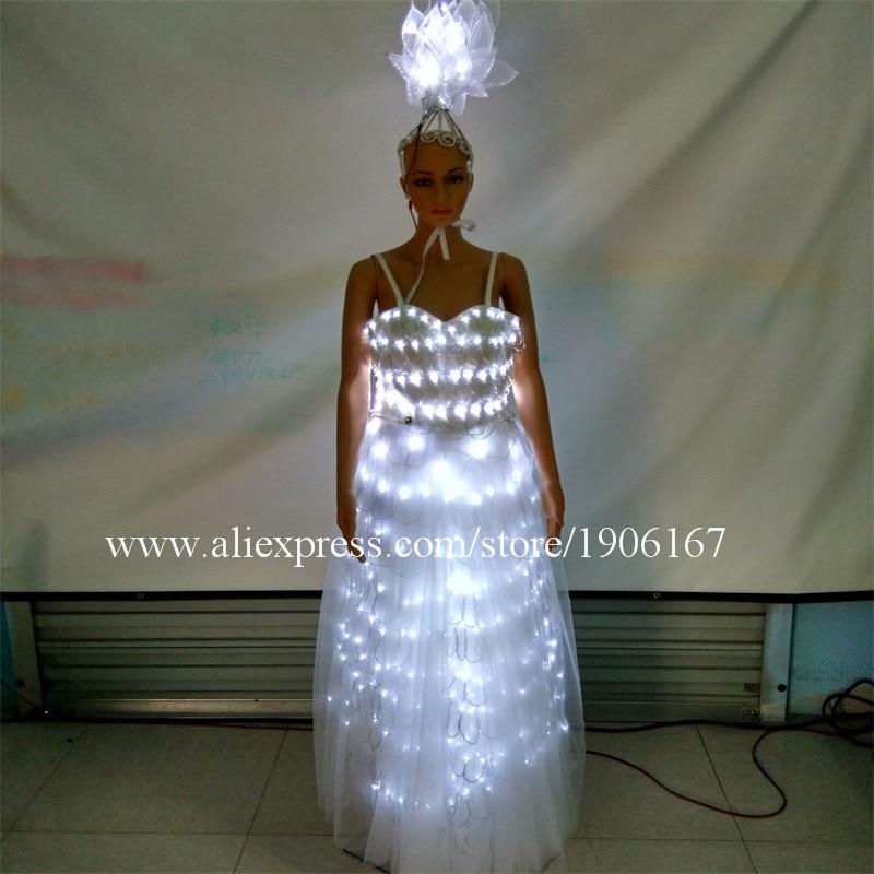 LED leuchtende Party Kleid LED leuchten wachsenden Ballsaal Kostüm - Partyartikel und Dekoration