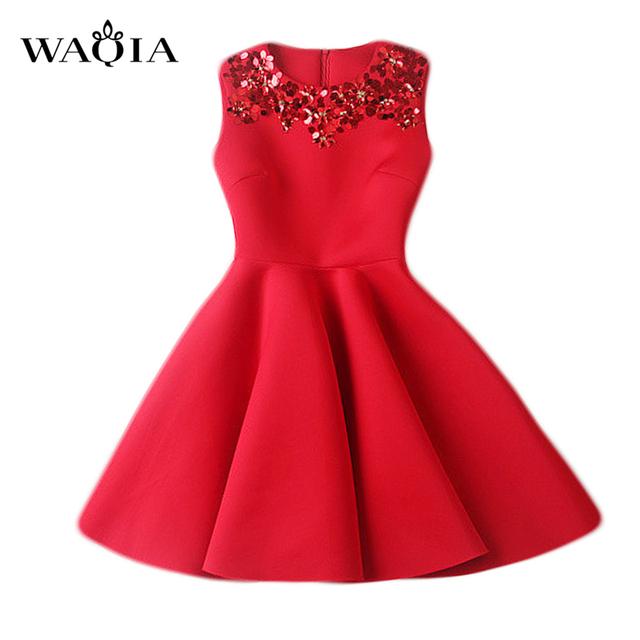 Estilo europeo vestidos 2017 vestido de festa casuales de algodón delgado espacio de lentejuelas delgado thin red dress women dress vestidos femininos