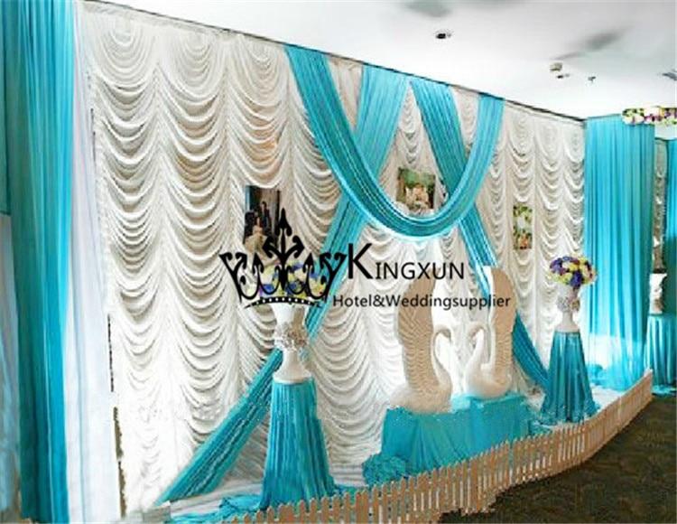 Wavy Shape Design font b Wedding b font font b Backdrop b font Curtain in White