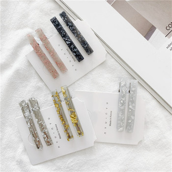 1Pair/2PCS Chic Korea Style Geometric Acrylic Hair Clips Shiny Tin Foil Sequins Hairpins Women Girls Barrettes Hair Accessories