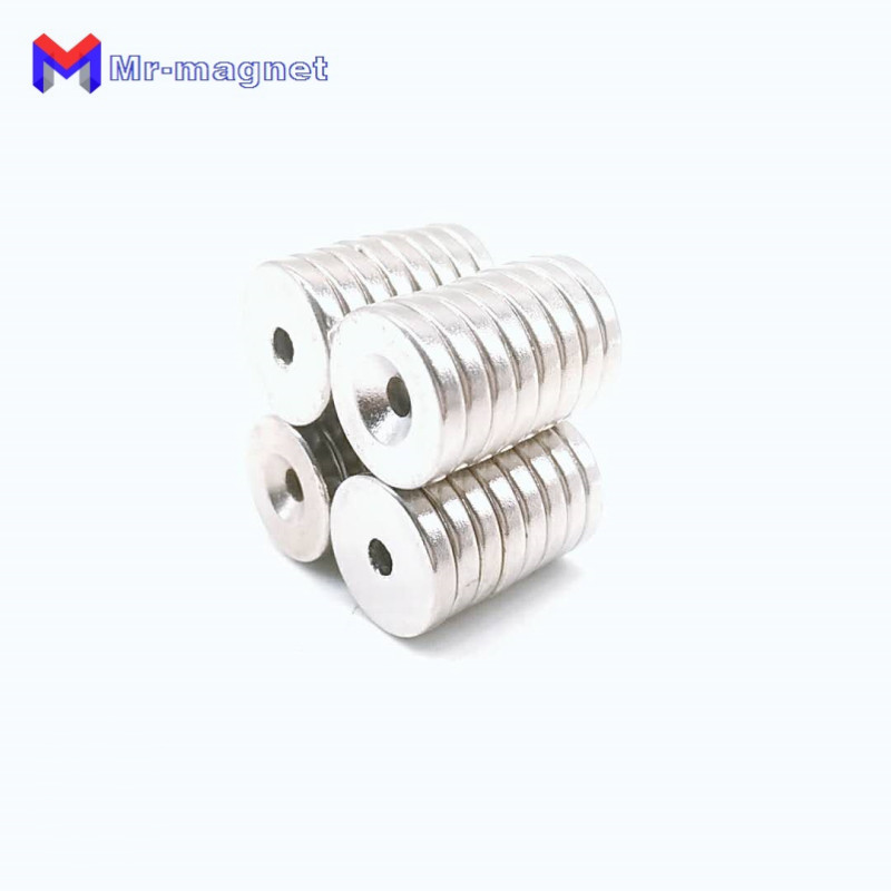 Купить с кэшбэком 50pcs 15x3-3 hole magnet 15x3mm hole 3mm, NdFeB magnet 15x3mm hole Dia 3mm, 15mm x 3mm hole 3mm magnets 15x3-3mm