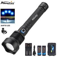 AloneFire H007 50000 lumens Lamp xhp70.2 most powerful flashlight usb Zoom led torch xhp70 Best Camping Outdoor
