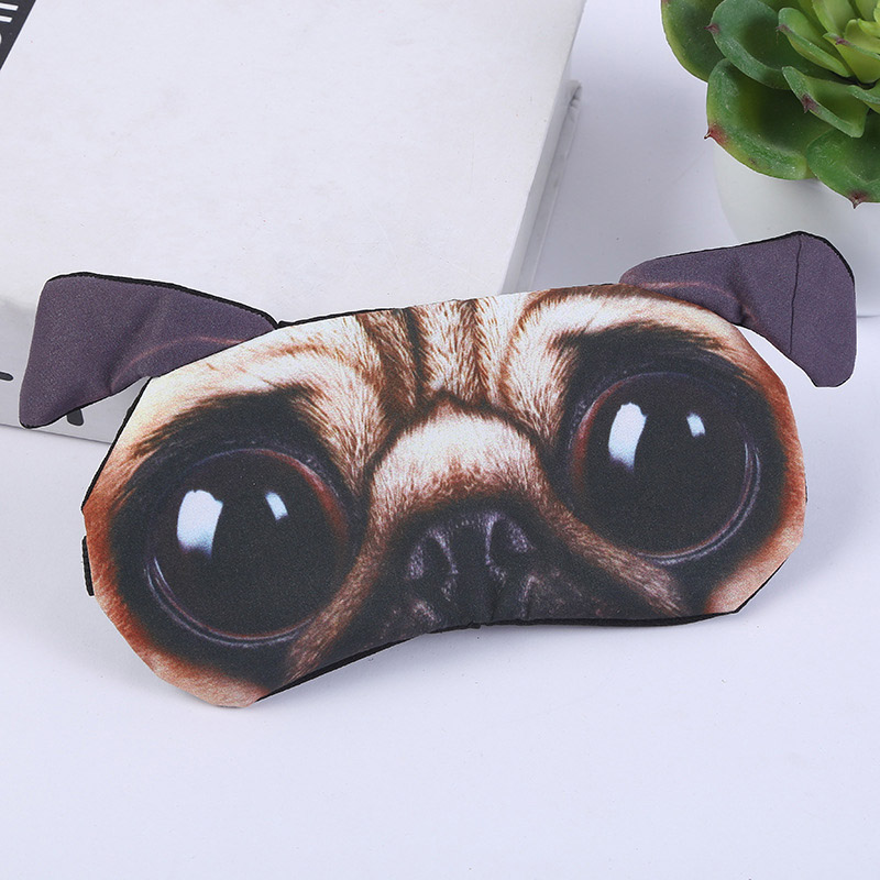 2019 Lovely Sleeping Eye Mask Cute Eyepatch Travel Eye Cover Sleep Patch Soft Blindfold Eyepatch 3D Cartoon Eyepatch Mask(China)