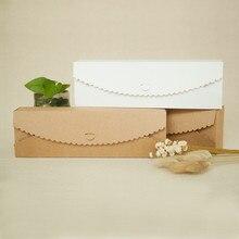 New 23*7*4cm 10pcs natural Kraft food Paper Box Diy