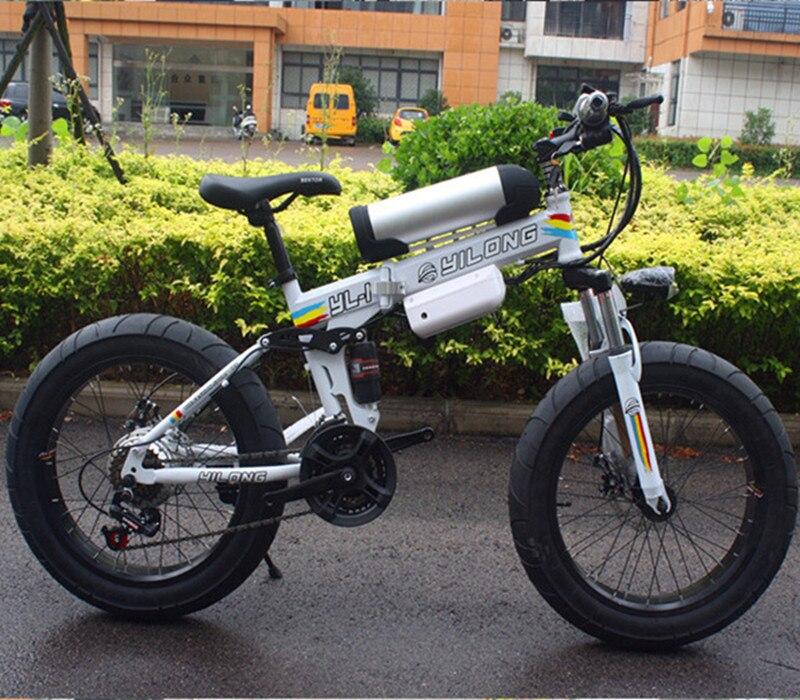 2018 Biciclette, nuovo 21 velocità, grasso pneumatici, biciclette, 36 V 10.8ah 500 W, batterie al litio, biciclette elettriche, elettrico mountain bike