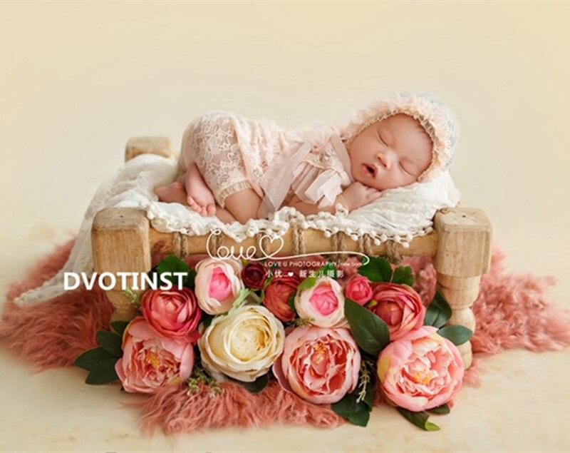 Doelstelling Dvotinst Baby Fotografie Props Houten Poseren Bed Fotografia Accessoires Baby Peuter Studio Schieten Foto Props Douche Gift