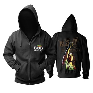 Image 5 - 7 designs Bob Marley zipper Sweatshirt Rock Vintage hoodies brand shell jacket sudadera Punk fleece Reggae musician jazz R&B