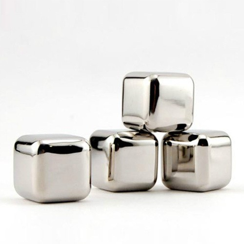 10 Pcs/lot Stainless Steel Whiskey Stones Ice Cubes Soapstone Glacier Cooler Stone Free Shipping
