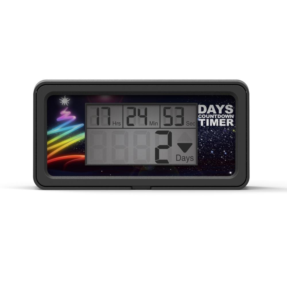 Timer LCD 9999 Days Digital Countdown Days Big Voice Laboratory Lab Kitchen Timer Retirement Wedding Reminder Only black HM200