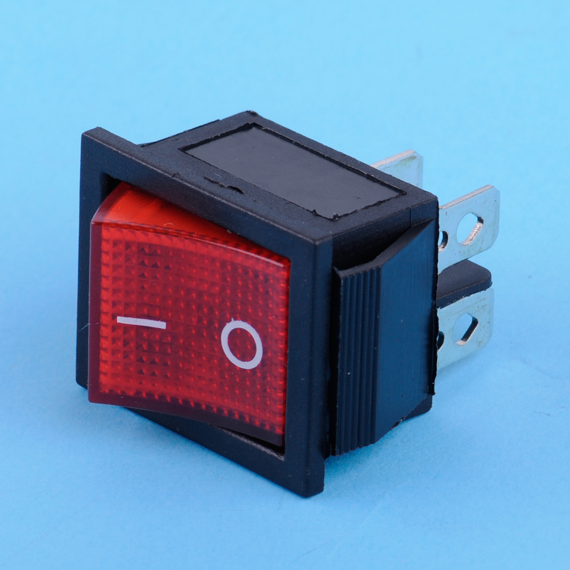 CITALL Car Motorcycle Boat On-Off 2 Position 4 Pin Terminals Snap-in Power Control Rocker Switch Red Indication Light