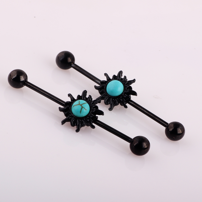 plastic ip internally jewelry labret clear monroe body and pack earrings surgical threaded black crystal hotsilver