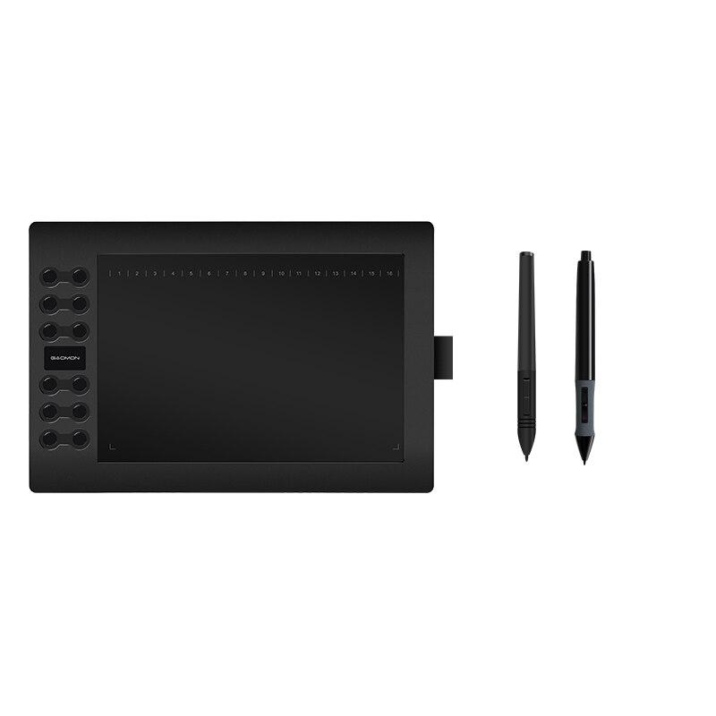 GAOMON tablette graphique M106K USB PenTablet numérique 10x6 pouces avec un stylo de batterie de remplacement