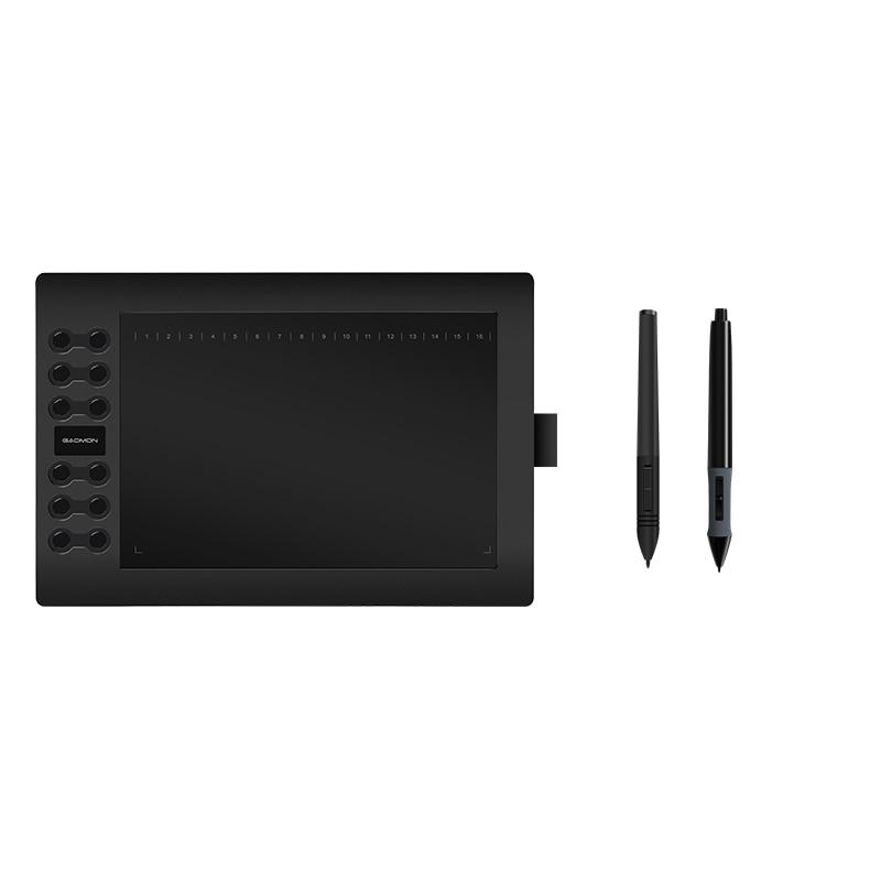 GAOMON grafikus tábla M106K USB digitális tolltartó 10 x 6 hüvelyk egy helyettesítő akkumulátorral