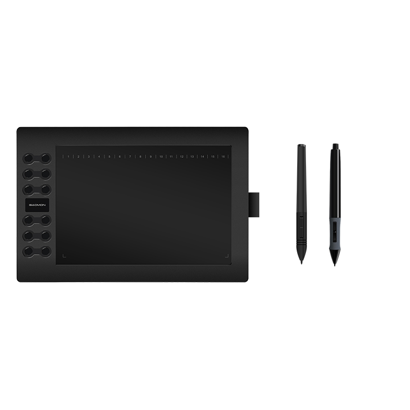 GAOMON Graphics Tablet M106K USB Digital PenTablet 10 x 6 Inches with one Replacement Battery Pen