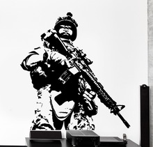 New arrival Free Shipping diy wallpaper Soldier Marine Army Military Guys Wall Decal decortion Poster Vinyl Stickers