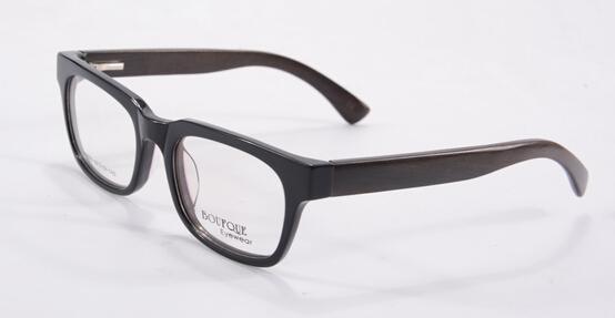 2015 brand design madera temper del marco óptico del acetato de gafas para hombre alta calidad exterior gafas K6605