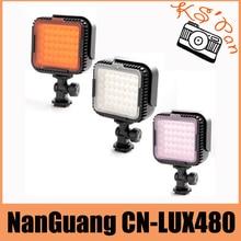 NanGuang CN-LUX480 48 Светодиодов лампы Видео Фото Лампа для Canon Nikon Камеры Видеокамера 5600 К/3200 К бесплатная доставка