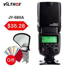 Viltrox jy680a universal lcd jy680a jy-680a en la cámara speedlite de destello de luz para canon nikon pentax olympus dslr cámara con regalo