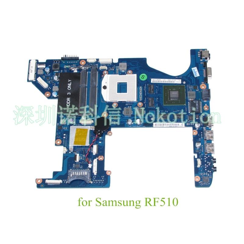 NOKOTION BA92 07132B BA92 07132A For samsung RF510 Laptop motherboard HM55 GeForce GT420M warranty 60 days