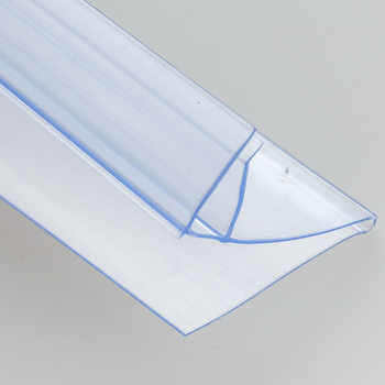 Plastic PVC Shelf Data Strips Clip-On Mechandise Price Talker Sign Display Label Card Holder Strip for Supermarket Rack 40pcs