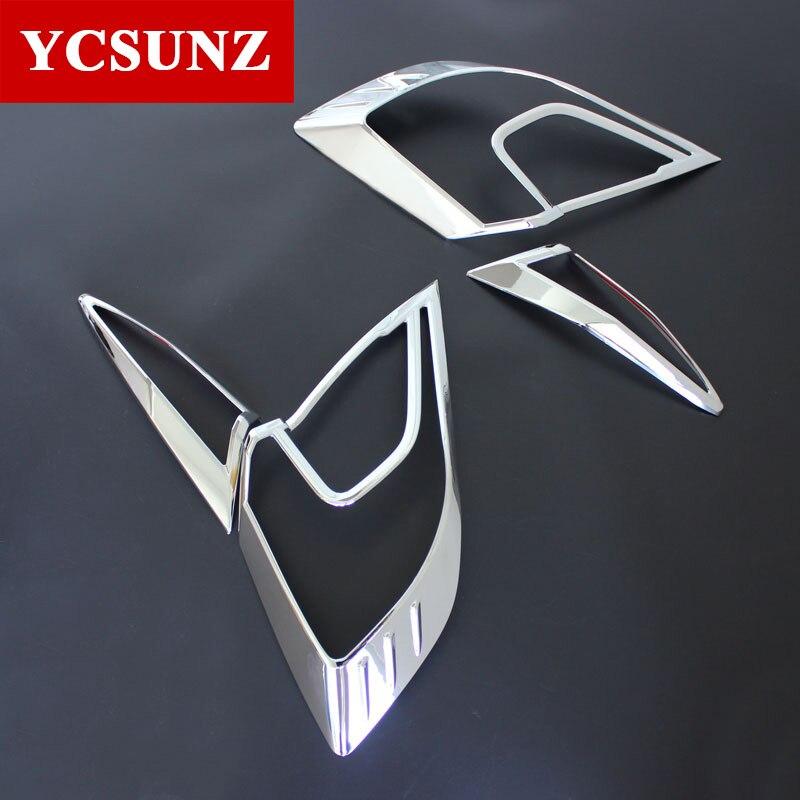 Garnitures chromées pour accessoires Honda Civic Chrome lampe de couverture de feu arrière entoure garniture de cadre pour Honda Civic 2016-2019 style de voiture