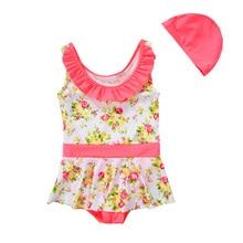 Vivo-biniya/комплект из 2 предметов для девочек, купальный костюм для младенцев, пляжный костюм, юбка розовый детский купальный костюм UPF50+ защита от солнца УФ