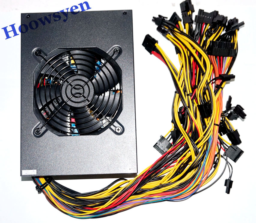 Asic Mining case ATX power supply 1600W Ethereum DASH Litecoin miner for RX 470 480 RX